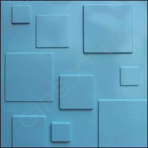 Гипсовая 3д панель • Плитка • отделка - покраска, в бирюзовый цвет