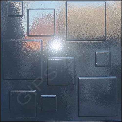 Гипсовая 3д панель • Плитка • покраска в темный цвет