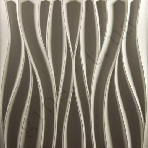Декоративная 3д панель из гипса для стен — ПОТОК