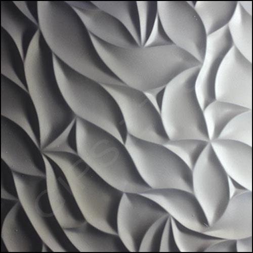 гипсовые 3д панели (3Д ПЛИТКА ) 3Д ПАНЕЛЬ из гипса ЛИСТВА, декоративная, дизайнерская плитка из гипса