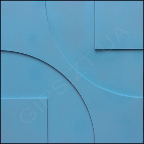 настренная гипсовая 3д панель (3д плитка) ТЕХНО, ОКРАШЕНА в синий цвет размерами 50 на 50 см. Купить по низкой цене от производителя