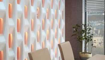 3Д Перегородка Аполло в Интерьере. Разделить пространство комнаты просто - используйте гипсовые 3д перегородки.