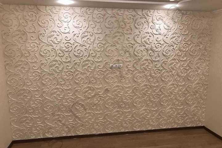 стеновая 3д панель из гипса Верона, есть в наличии, классический стиль, мелкие завитушки