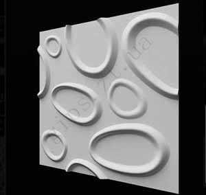 Гипсовая 3D Панель - Плитка БРЫЗГИ